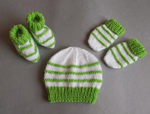 8a3fc605a Garter Stitch Ridge Baby Set