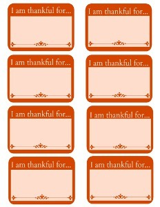 picture relating to I Am Thankful for Printable identified as I Am Grateful For Printable Labels