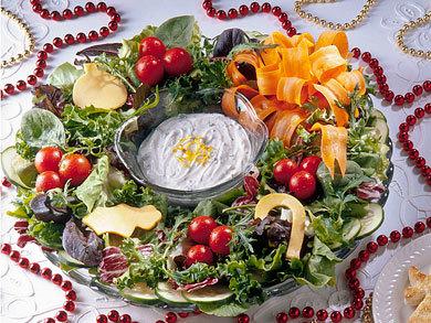 Salad Wreath Mrfood Com