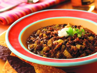 Chorizo and Black Bean Chili MrFood.com