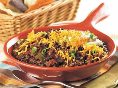 Beefy Black Bean Chili