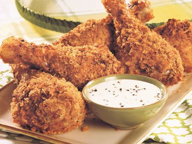 Recipe for fried chicken drumsticks
