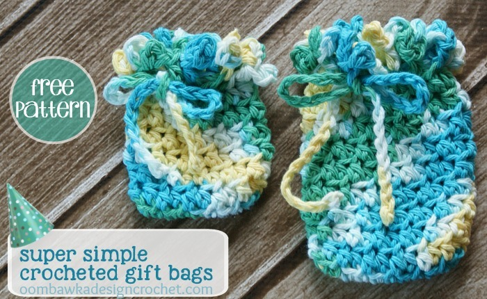 Free Crochet Patterns For Christmas Gift Bags : Cute and Simple Crochet Gift Bags AllFreeCrochet.com