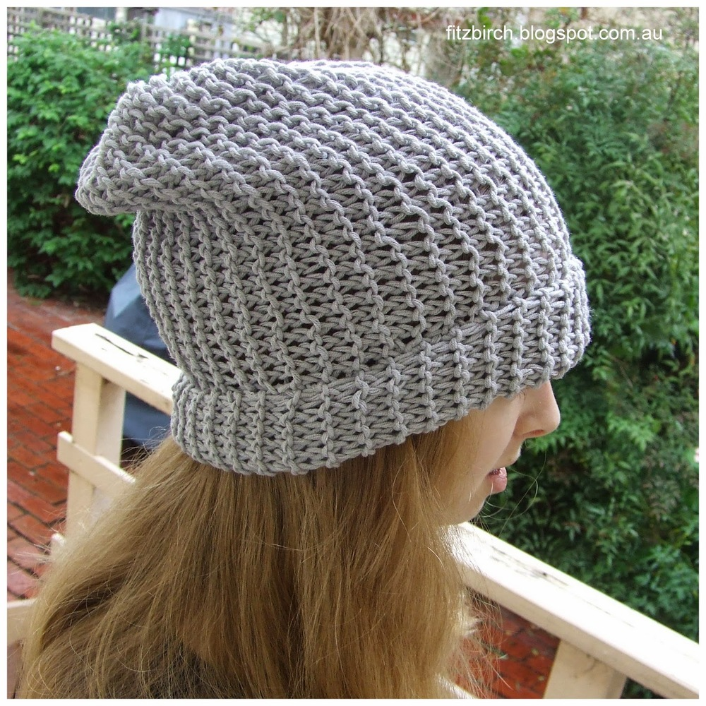 Simple Hat Knitting Pattern In The Round : 50 Shades of Grey Beanie AllFreeKnitting.com