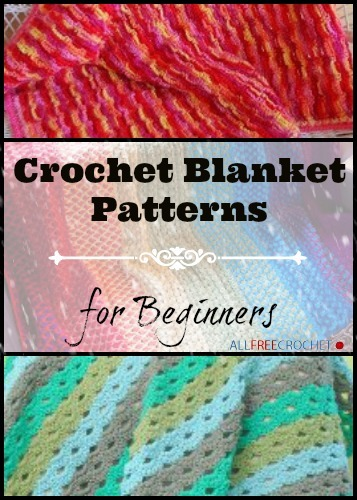 Crochet Pattern For Blanket Beginners : 25 Crochet Blanket Patterns for Beginners AllFreeCrochet.com