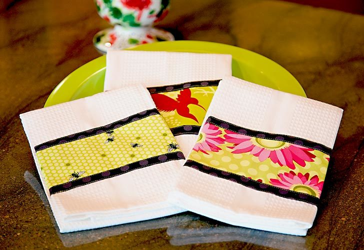 Triple border dish towels - Free embroidery designs for kitchen towels ...