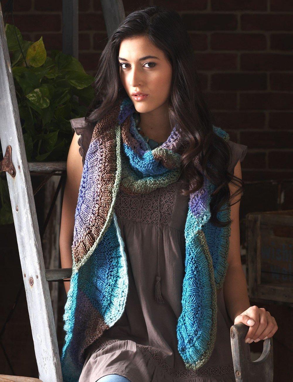 autumn artisan scarf allfreeknitting