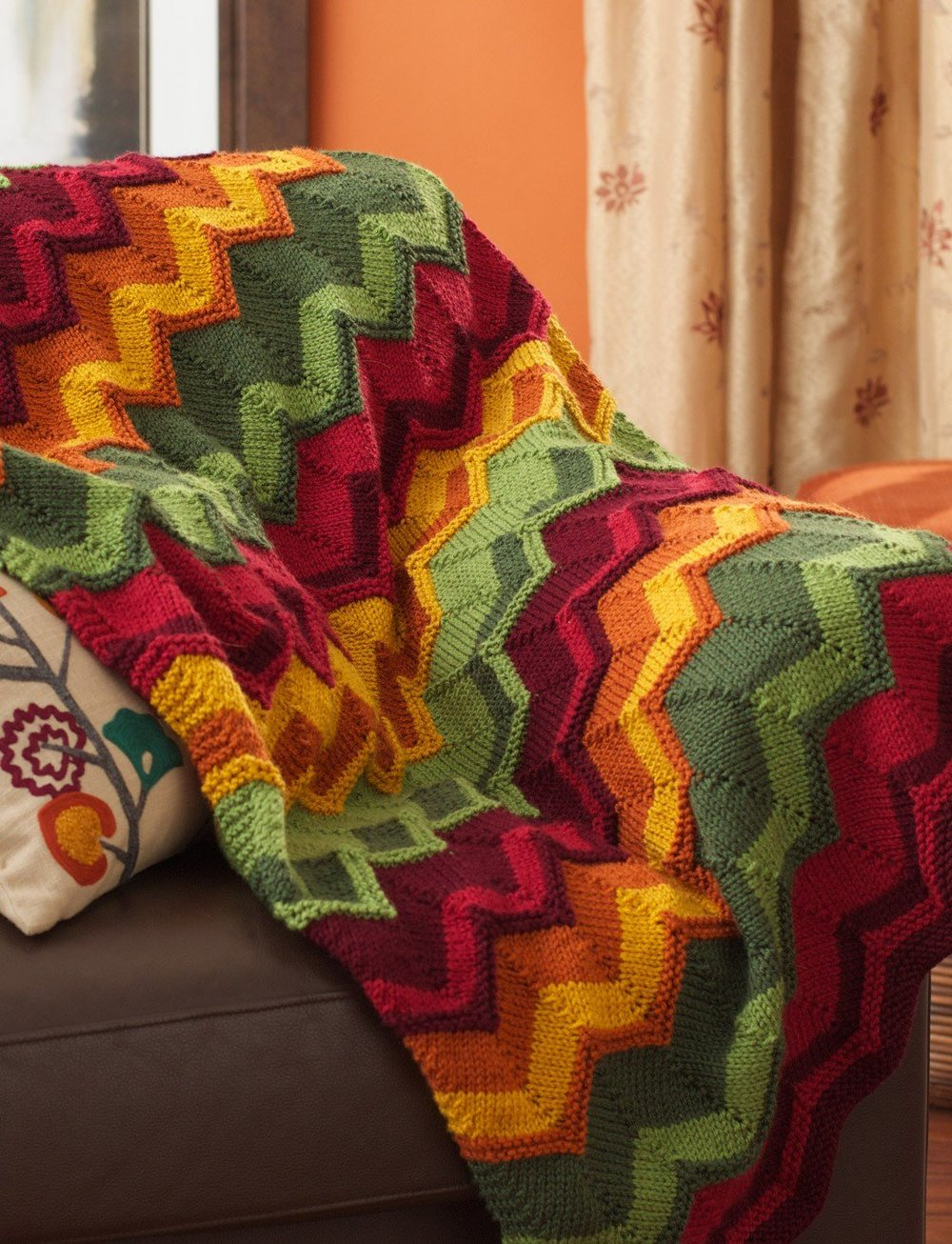 Thanksgiving Throw Knit Afghan Pattern Allfreeknitting Com