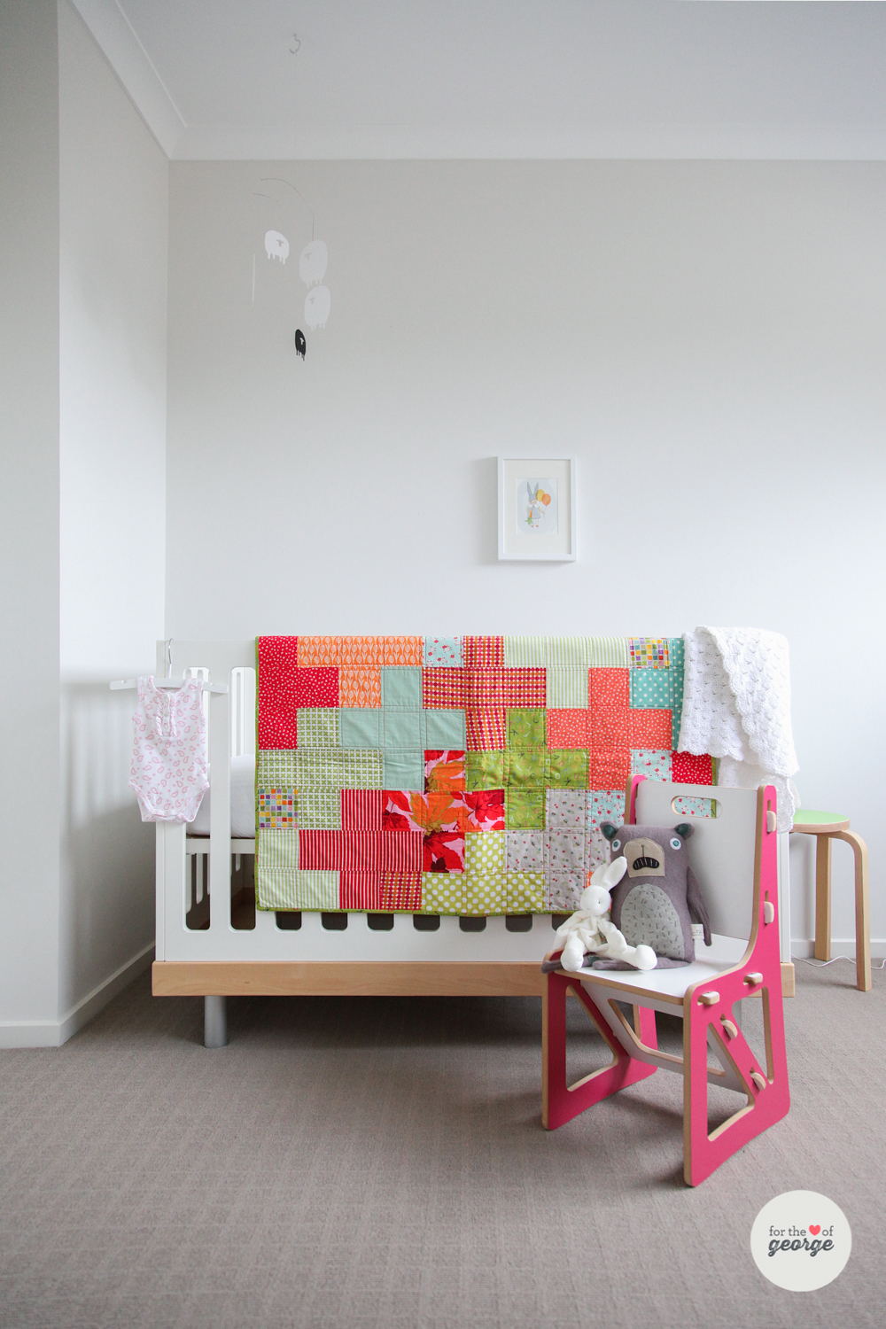 Free baby bed quilt patterns - Tetris Baby Quilt