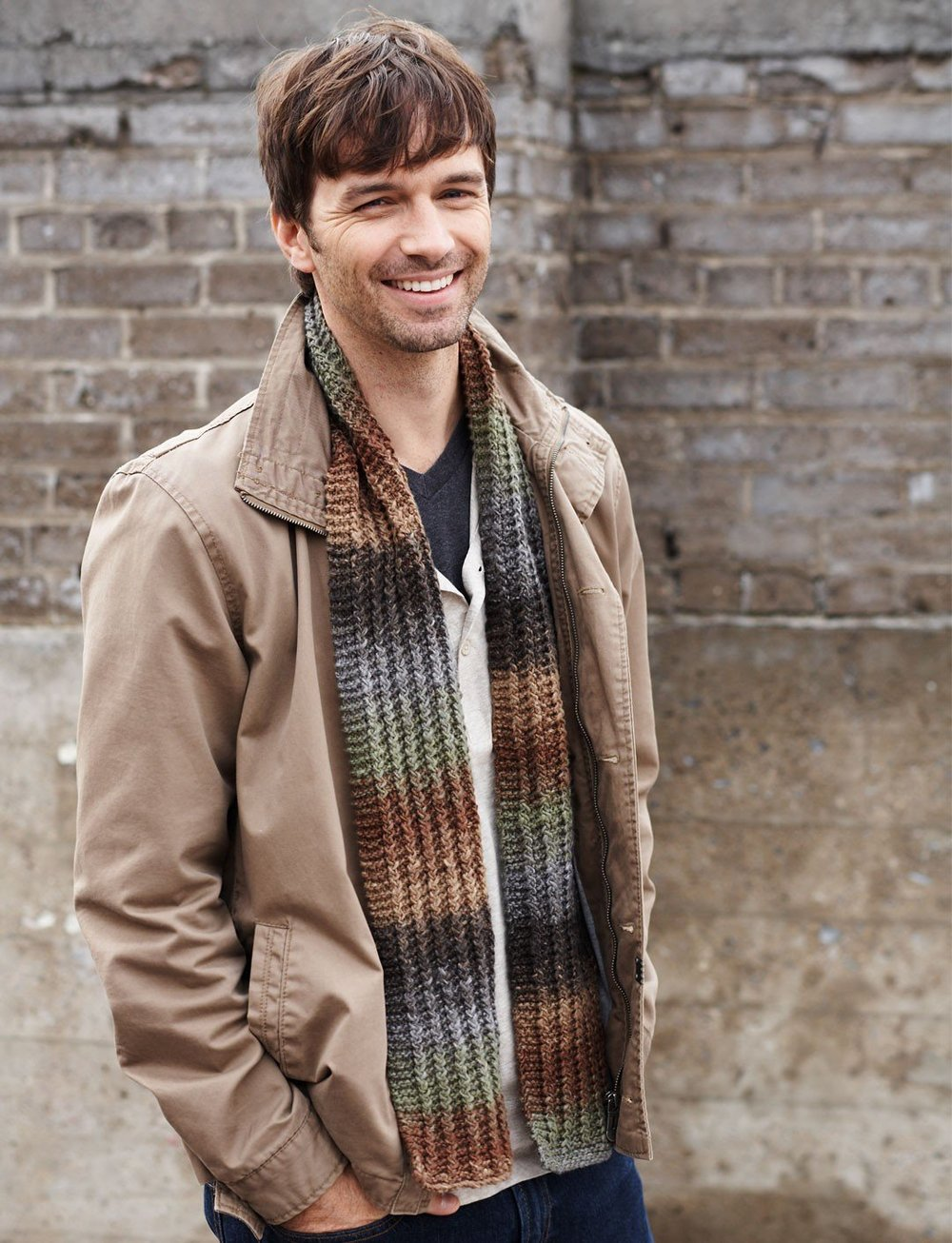 Scarfs Men Scarf And Casual On Pinterest Nice Scarves: AllFreeKnitting.com