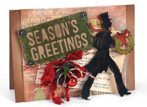 Victorian Inspired Christmas Card