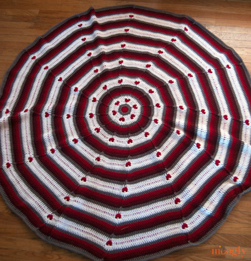 Crochet Patterns Circle : Circle of Love Afghan AllFreeCrochet.com