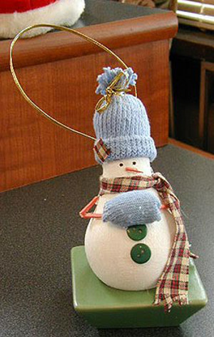 Chilly Recycled Snowman Ornament