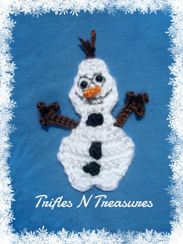 Goofy Frozen Snowman Applique Allfreecrochet Com
