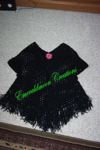 Child's Poncho Sweater   AllFreeCrochet com