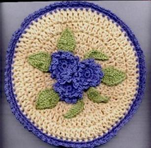 Crochet Pattern Central Potholders : Dutch Skies Potholders AllFreeCrochet.com
