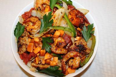 West African Chicken and Shrimp Stir Fry   RecipeLion.com