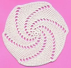 Free Pinwheel Crochet Baby Blanket Pattern : Pinwheel Coaster AllFreeCrochet.com