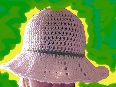 Crocheted Summer Hat with Brim