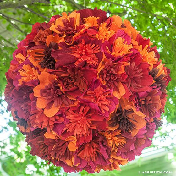 Paper Flower Pinata Ball Allfreediyweddings Com