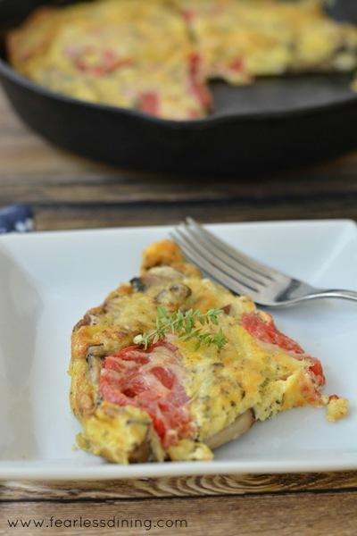 Heirloom Tomato and Mushroom Frittata | FaveGlutenFreeRecipes.com