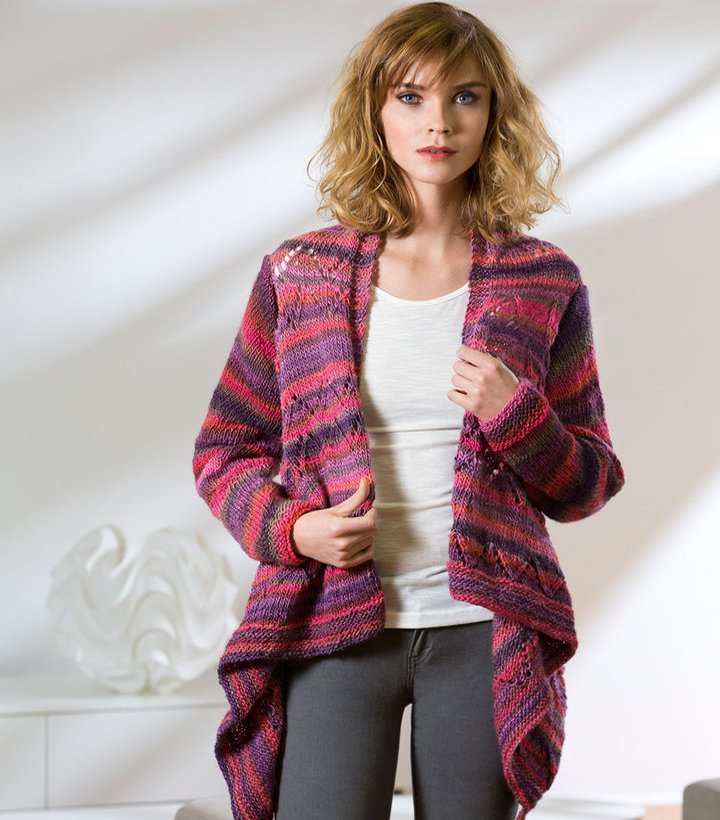 Drape Front Knit Cardigan