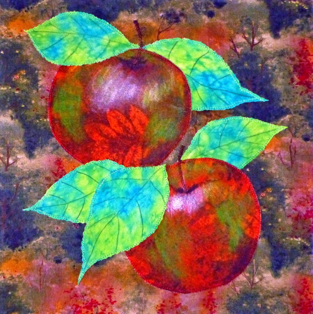 Watercolor Apples Applique Quilt Favequilts Com
