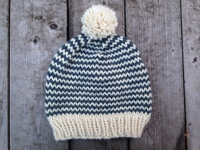 Knit Hat Pattern Using Super Bulky Yarn
