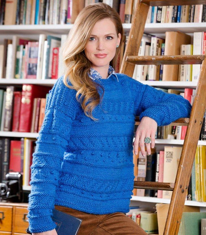 Sapphire Knit Pullover Pattern Allfreeknitting Com
