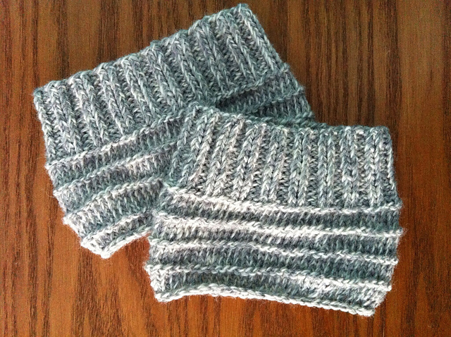 Easy Knit Boot Cuffs AllFreeKnitting.com