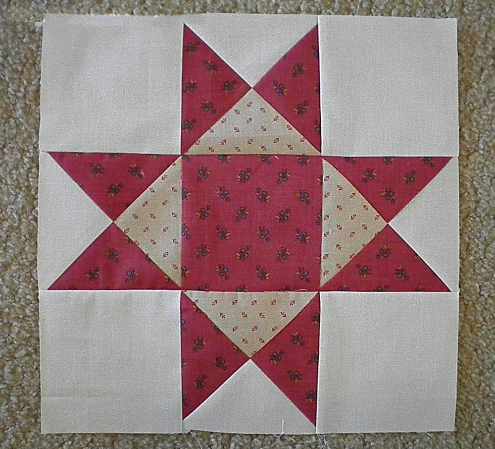 Quilting Free Patterns Block : Aunt Eliza s Star FaveQuilts.com