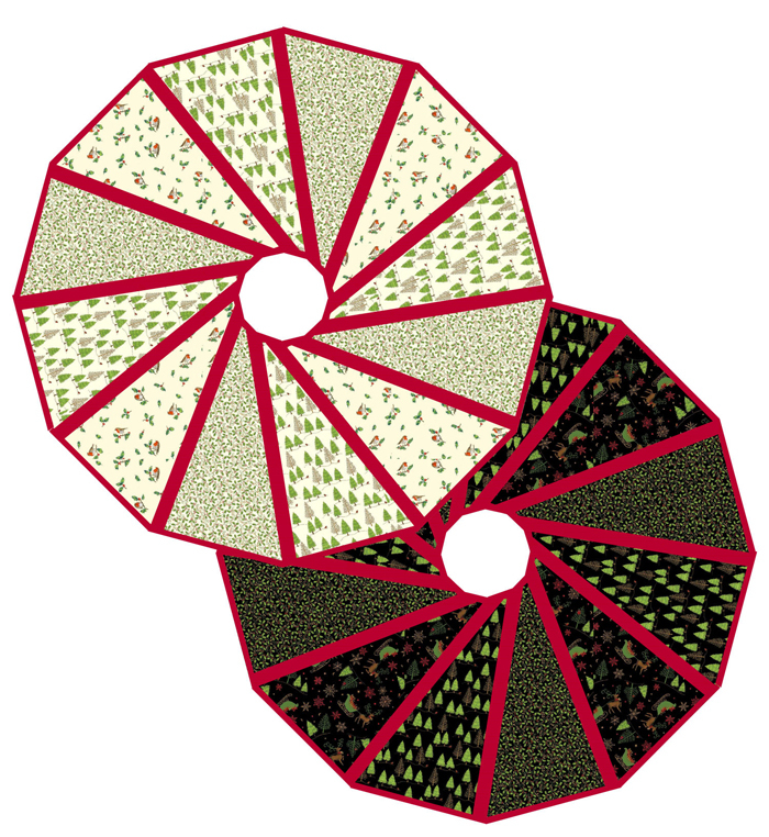 Modern two sided tree skirt pattern favequilts