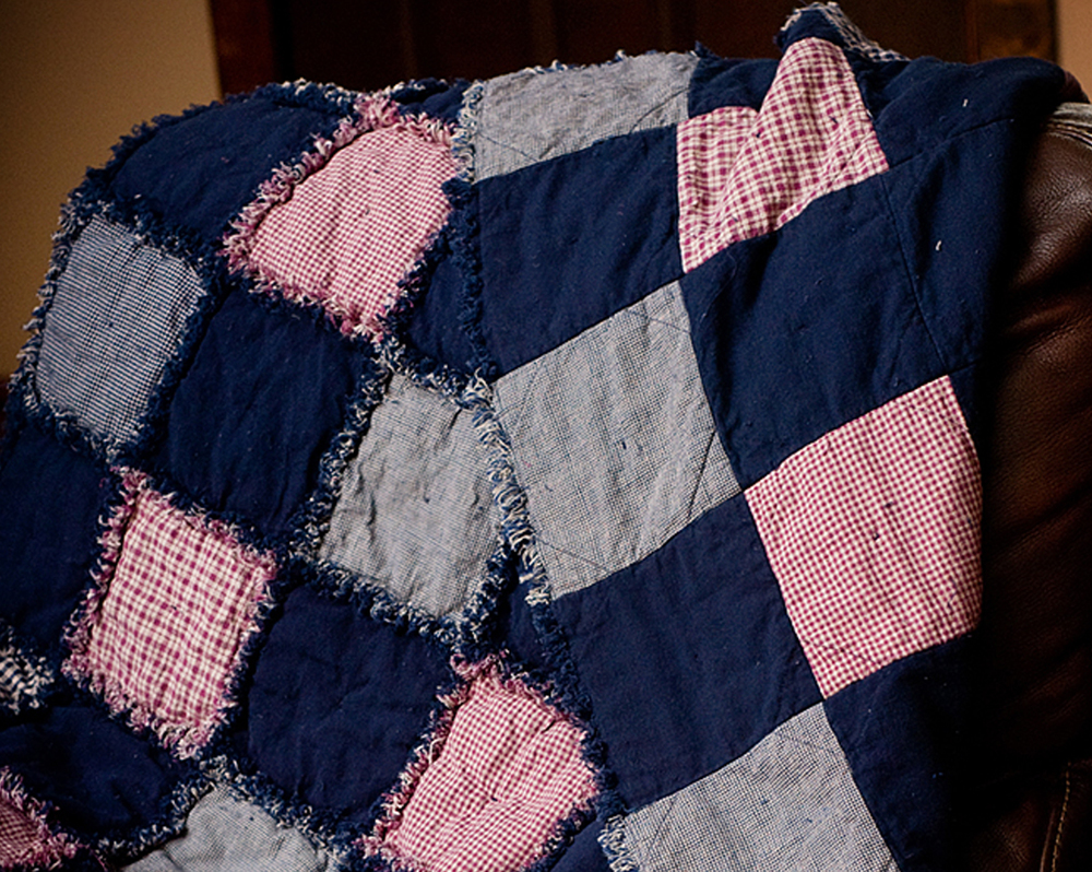 Fuss free rag quilt for How to make a quilt template