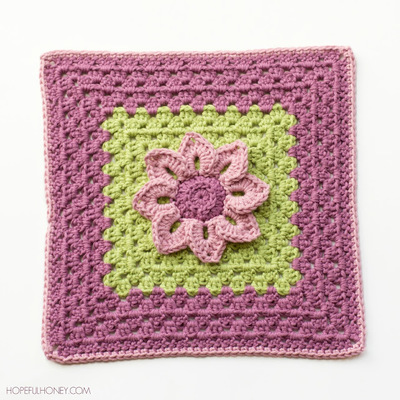 Water Lily Crochet Granny Square Pattern ...