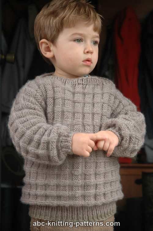 Little Boy's Woodland Sweater | AllFreeKnitting.com