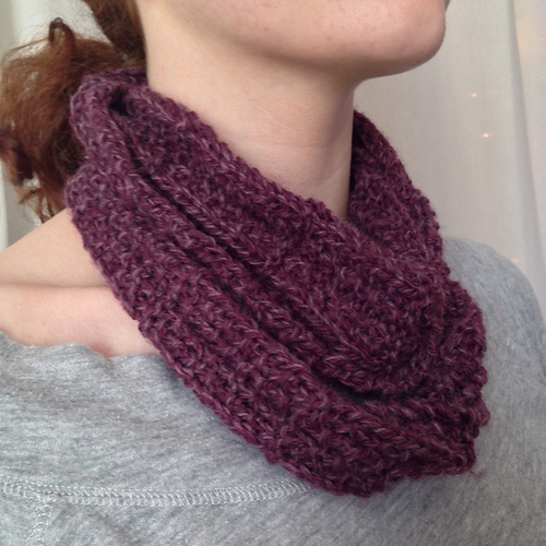 Knitting Pattern For Thin Scarf : Brickworks Thin-finity Scarf AllFreeKnitting.com