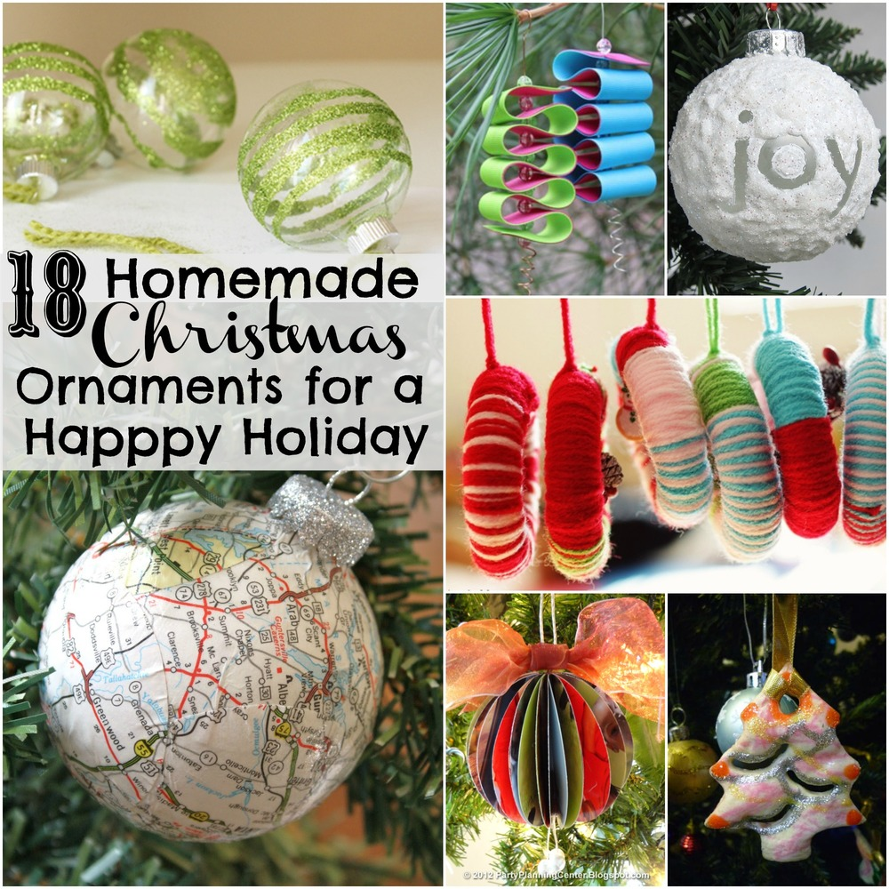 18 homemade christmas ornaments for a happy holiday for All christmas decorations