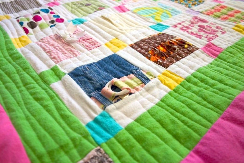 How To Make A Baby Clothes Quilt Favequilts Com