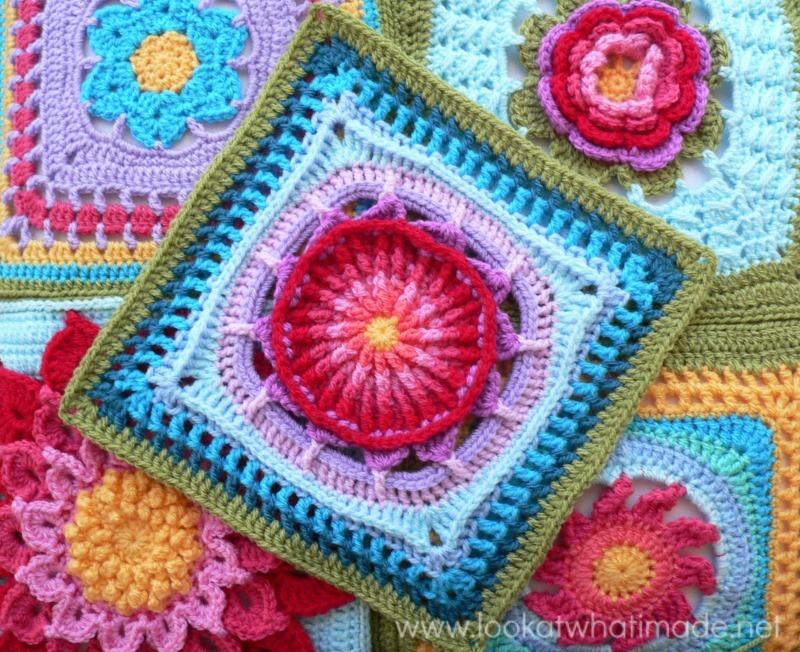 Prince Protea Crochet Granny Square ...
