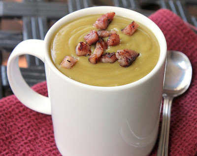 Worlds Best Split Pea Soup with Bacon Bits