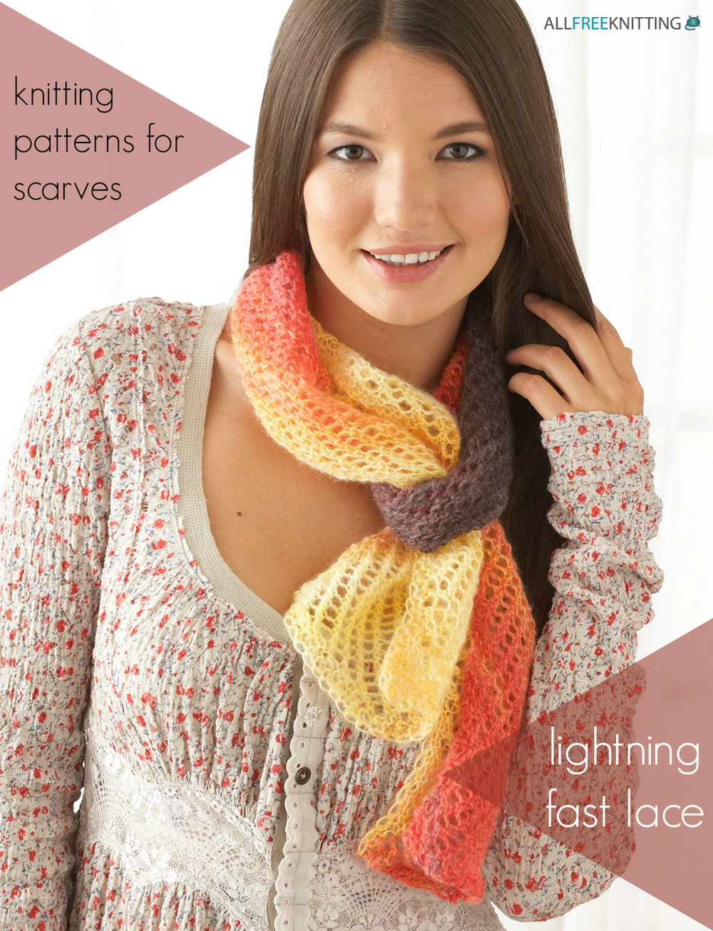 Fast Knit Scarf Pattern : 33+ Knitting Patterns for Scarves: Lightning Fast Lace AllFreeKnitting.com
