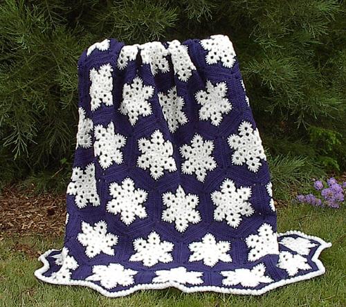 Free Crochet Pattern For Snowflake Granny Square : 26 Winter Crochet Patterns AllFreeCrochetAfghanPatterns.com