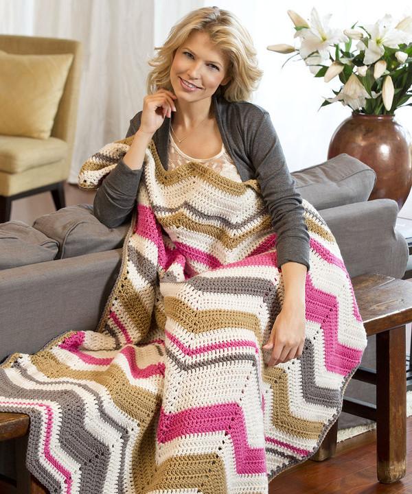 Modern Crochet Ripple Pattern