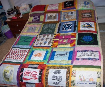 Scrappy T-shirt Quilt