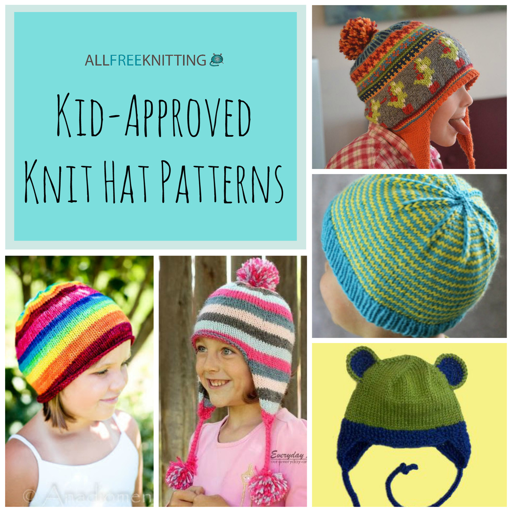 Hand Knitted Blanket Patterns : 26 Kid-Approved Knit Hat Patterns AllFreeKnitting.com