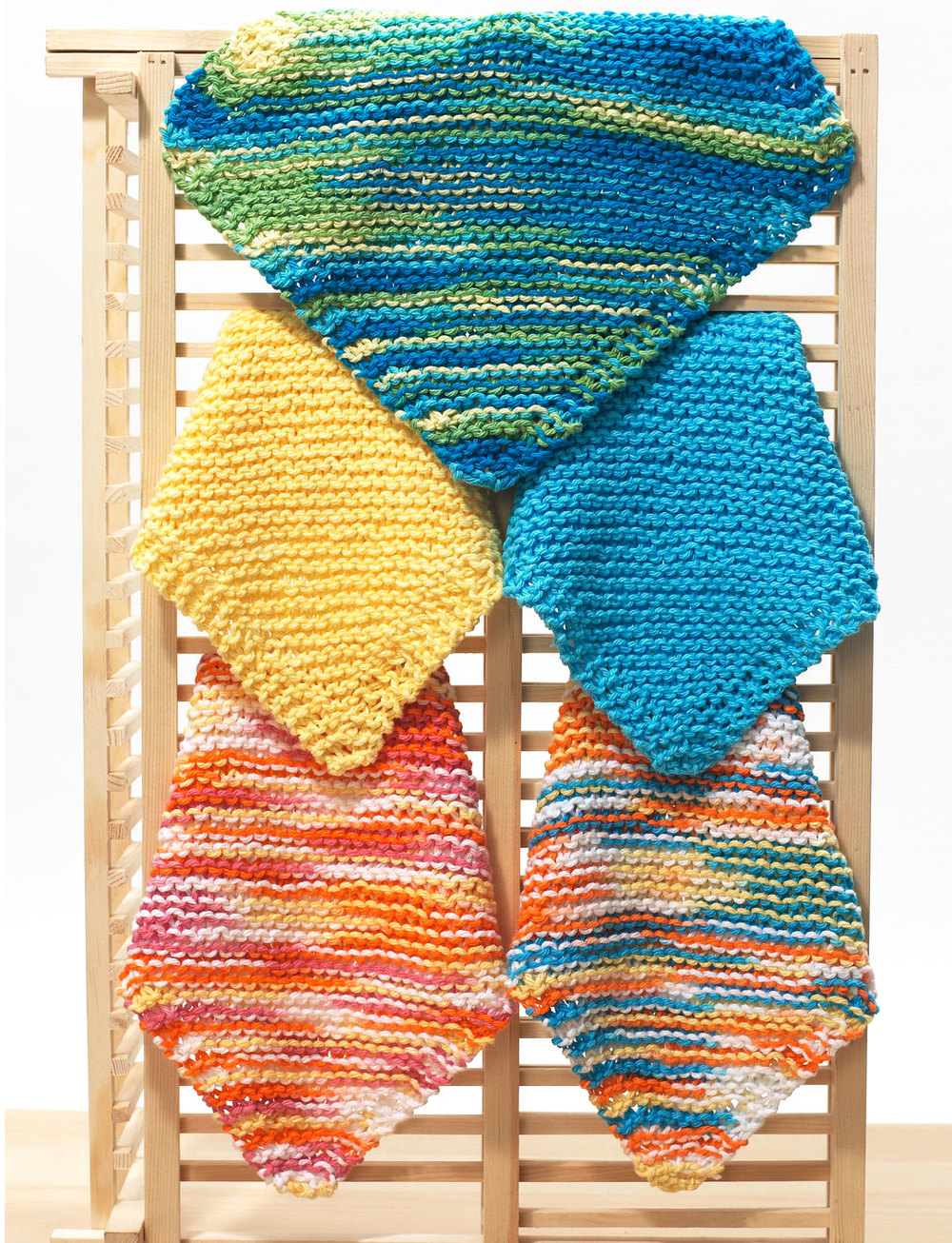Easy Knit Dishcloth Pattern [Diagonal Knit Dishcloth for ...