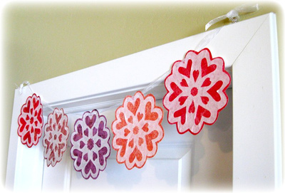 Valentine Snowflake Garland from Coffee Filters
