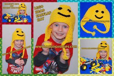 Lego Head Earflap Hat
