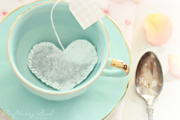 Heart-Shaped Tea Bags and Printable Tags