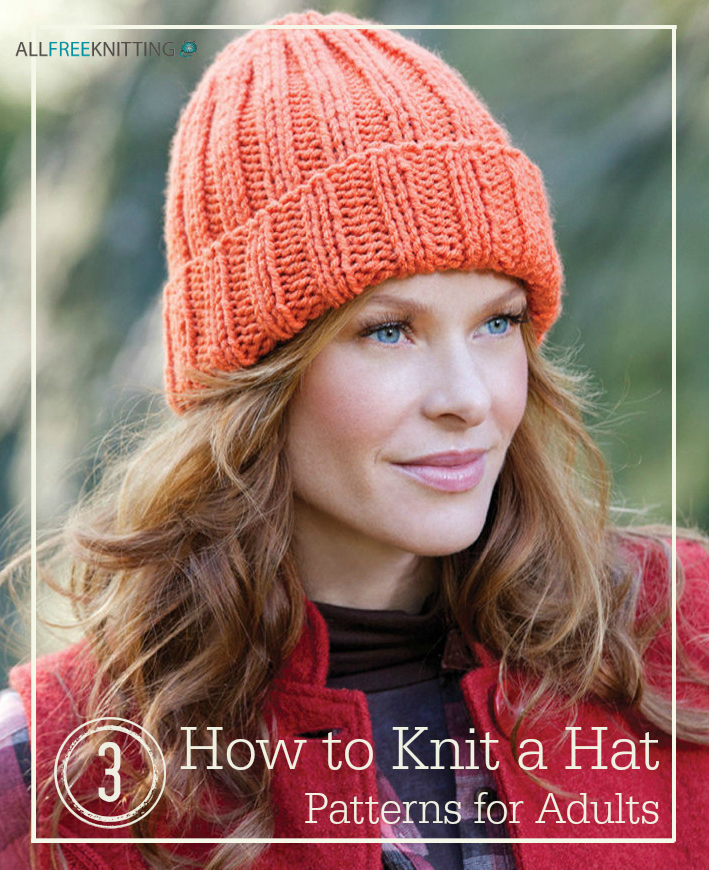 How To Knit A Hat 3 Patterns For Adults Allfreeknitting Com